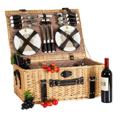 Picknickkorb f r 6 personen for Set de table en osier