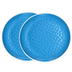 Small melamine plate - Blue. 2 pieces