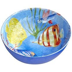 Salad Bowl in melamine - Marine.