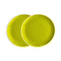 Small melamine plate - Green. 2 pieces